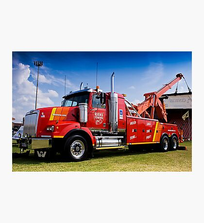 Towing and Recovery Vehicle, with Hoist Crane Photographic Print