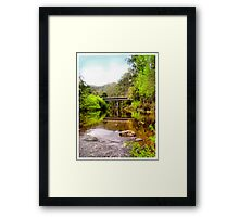 Alma Bridge in Tasmania Framed Print