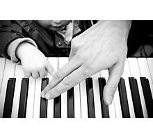 Piano Master and Pupil Photographic Print