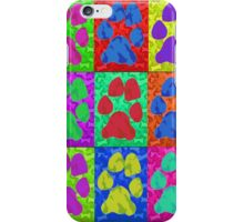 Dog Paws Pop Art iPhone Case/Skin