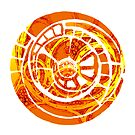the orange spiral cog by Agnew & Roberts