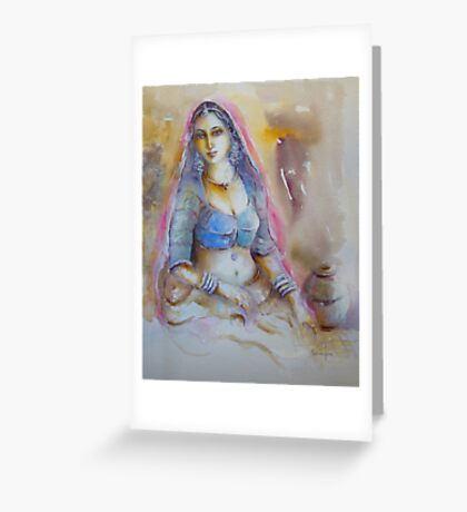 Exotic Woman Greeting Card