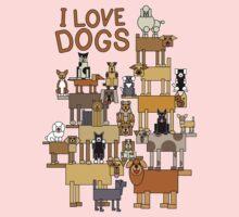 I Love Dogs Kids Tee