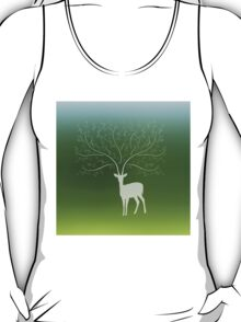 Deer with tree branch horns T-Shirt
