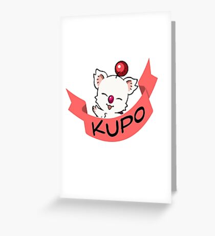 Moogle Final Fantasy Greeting Card