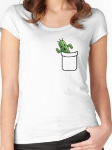 pocket cactuar final fantasy Women's Fitted Scoop T-Shirt