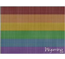 Wyoming Rainbow Gay Pride by surgedesigns