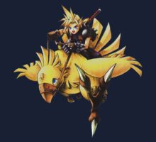 Cloud rides a chocobo !! Kids Tee