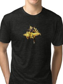 Cloud rides a chocobo !! Tri-blend T-Shirt