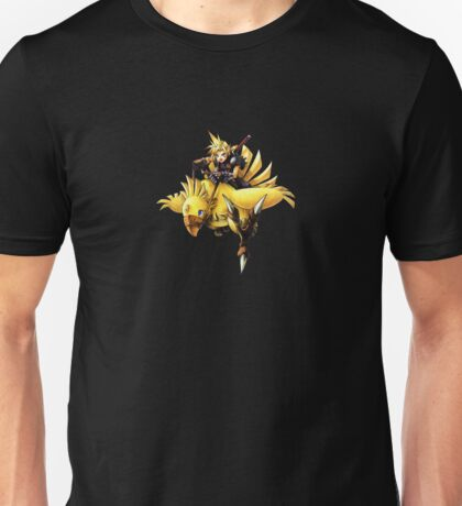 Cloud rides a chocobo !! Unisex T-Shirt