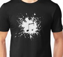 note in white paint Unisex T-Shirt