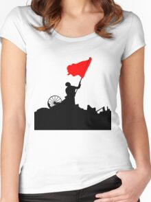 Flag of Revolution Women's Fitted Scoop T-Shirt