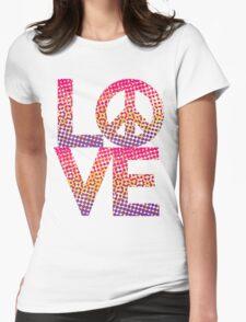 LOVE Peace Color Halftone T-Shirt