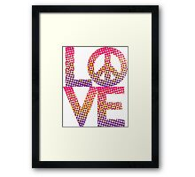 LOVE Peace Color Halftone Framed Print