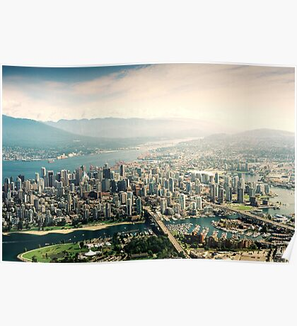 Vancouver (Aerial View) Poster