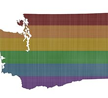 Washington Rainbow Gay Pride by surgedesigns