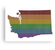 Washington Rainbow Gay Pride Canvas Print