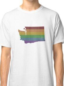 Washington Rainbow Gay Pride Classic T-Shirt