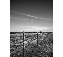 A Wire On The Fence And A Wire In The Sky Photographic Print