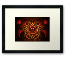 Flaming Passion Framed Print