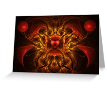 Flaming Passion Greeting Card