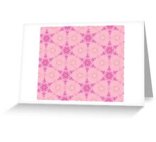 Pink Crystalline Watercolour Flowers Pattern Greeting Card