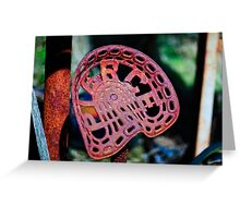 the comfy chair, tractor seat, Saltmills, County Wexford, Ireland Greeting Card
