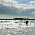 shore fishing, Grange Strand, Fethard-on-sea, County Wexford, Ireland by Andrew Jones