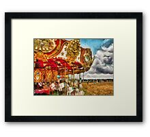 Amusement - The Merry-go-round Framed Print