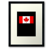 "Canadian Flag, Pure & Simple on Black, National Flag of Canada, Canada, ""A Mari Usque Ad Mare"" Framed Print"
