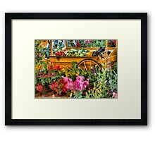 Country - At the farmers market Framed Print