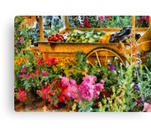 Country - At the farmers market Canvas Print
