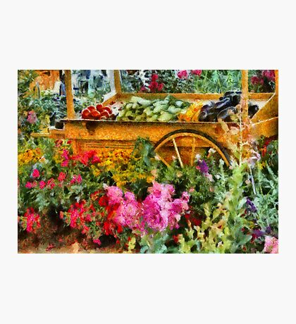 Country - At the farmers market Photographic Print
