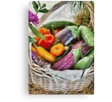 Farm - Fresh Vegetables Canvas Print