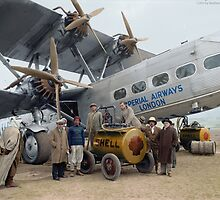 Imperial Airways Fueling Up by jenoscolor