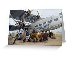 Imperial Airways Fueling Up Greeting Card