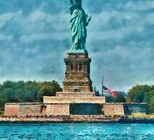 NY - The Statue of Liberty by Mike  Savad