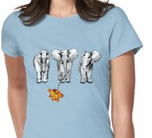 3 elephants-2  Womens Fitted T-Shirt