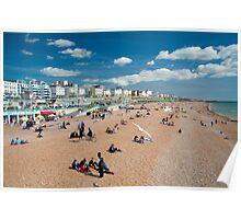 Brighton Beach: Sussex UK Poster