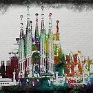 Painted Sagrada familia by amira