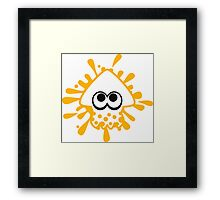 INKLING SQUID - YELLOW Framed Print