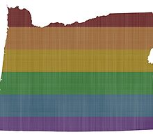 Oregon Rainbow Gay Pride by surgedesigns