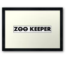 ZOO KEEPER LOGO SYMBOL Framed Print