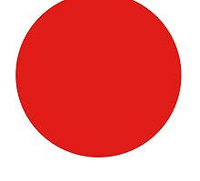 Circle of the sun, JAPAN, Japanese Flag, National Flag of Japan, Hinomaru, Nisshōki, Sun Mark Flag, Nippon by TOM HILL - Designer