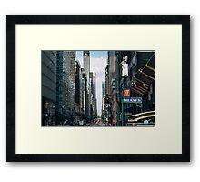 East 42nd. & Madison Framed Print