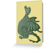cute dragon mythical and fantasy creature art Greeting Card