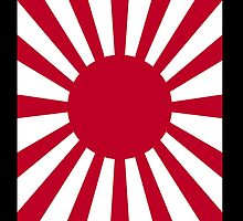 Japanese War flag, Imperial Japanese Army, WWII, WAR, Japan, Nippon, Portrait on Black by TOM HILL - Designer