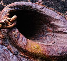 anchor chain, The Port Lairge, saltmills, County Wexford, Ireland by Andrew Jones