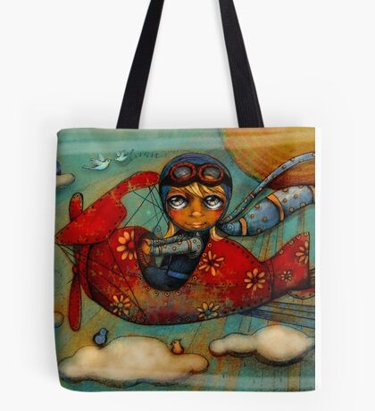 Little Red Plane Tote Bag