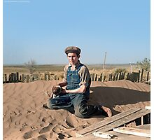 Playing on a Dune Photographic Print